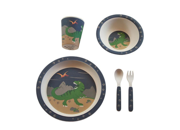 Kids & Children Bamboo Tableware Dinosaurs - Bobble Art