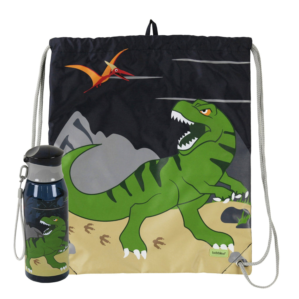 Kids & Children Drawstring Bottle Pack Dinosaur - Bobble Art