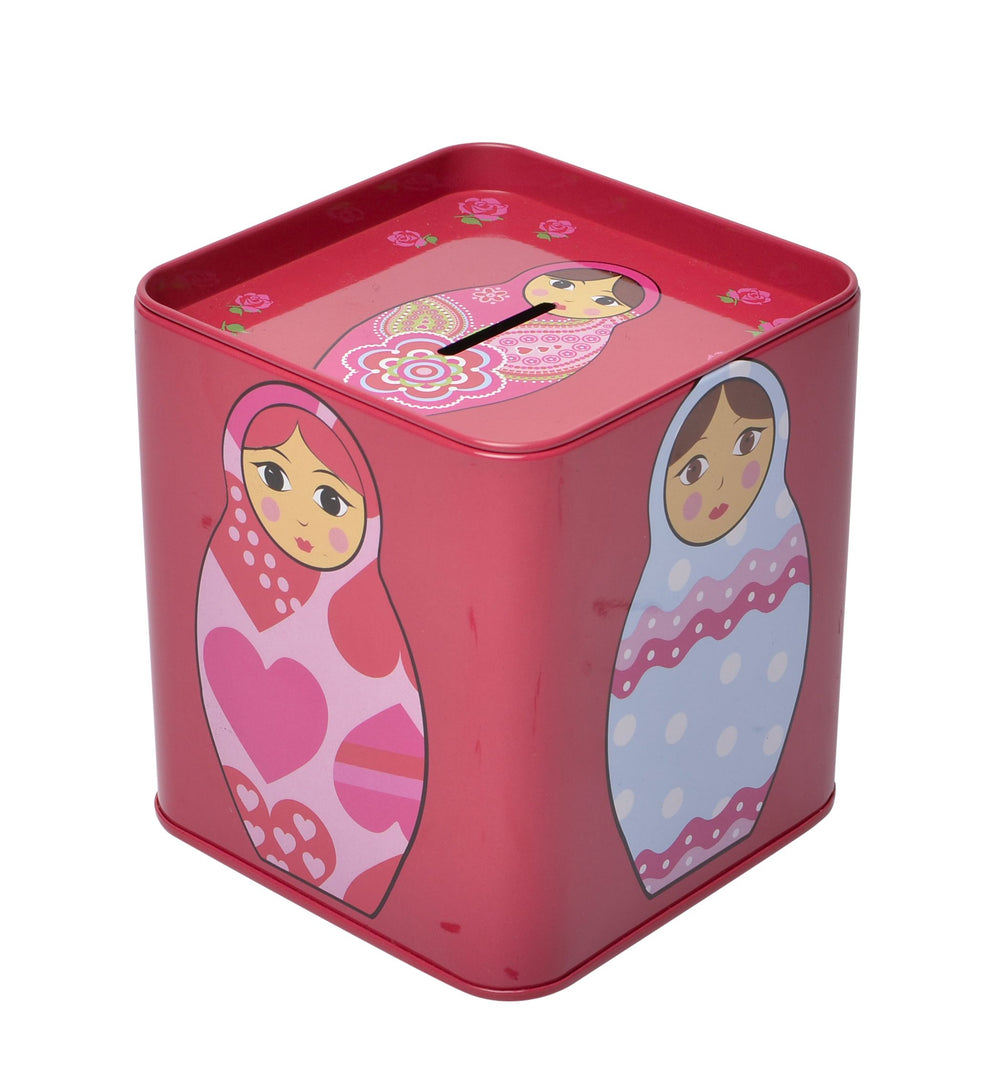 tin money box babushka sample