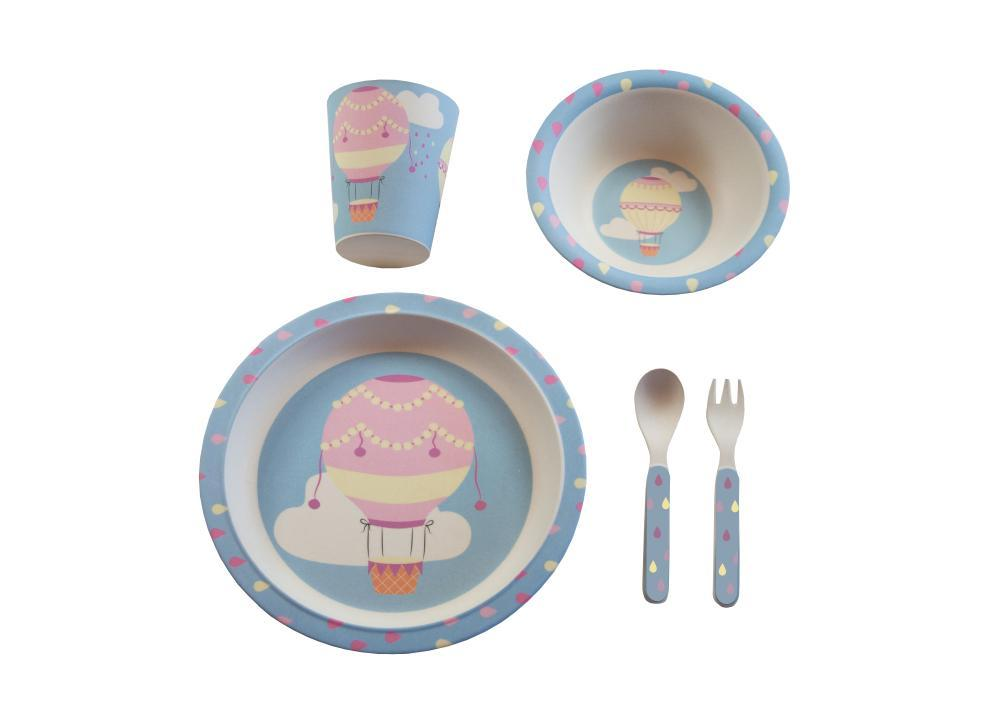 Kids & Children Bamboo Tableware Air Balloons - Bobble Art