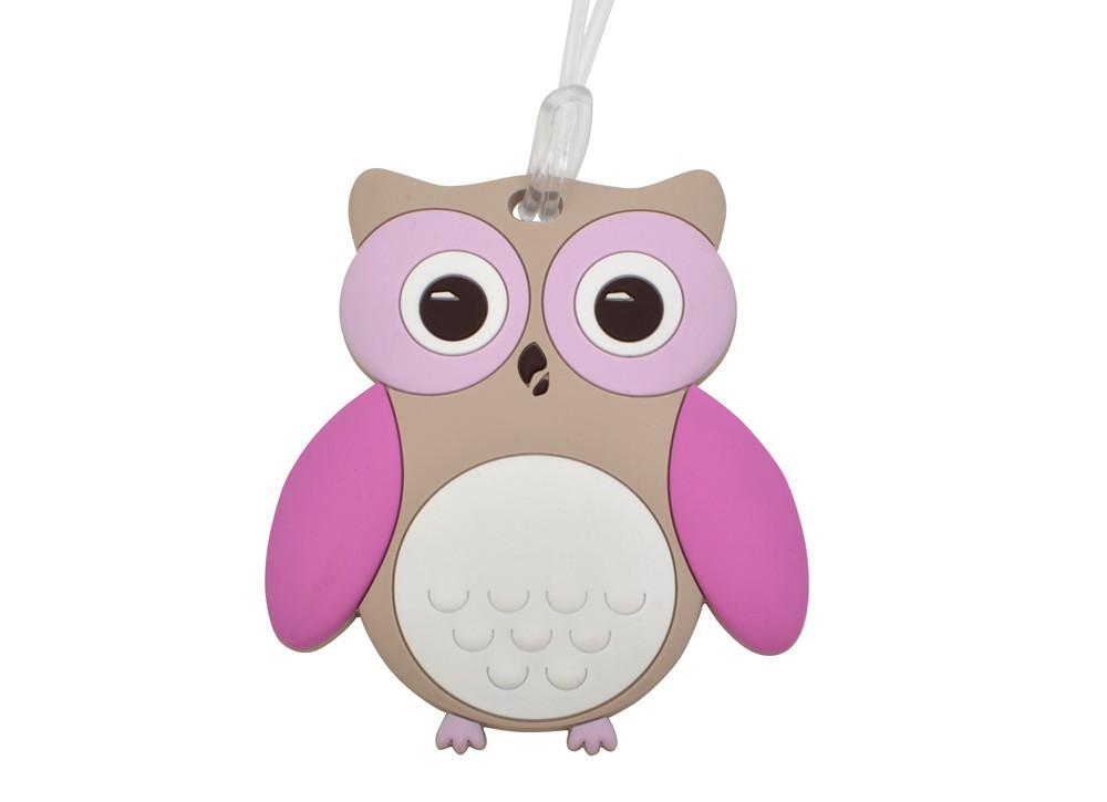 Kids & Children Baggage Tag Owl - Bobble Art