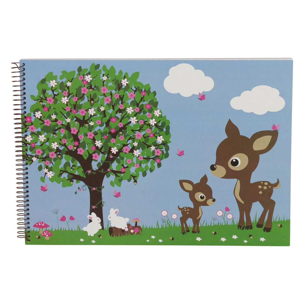 Kids & Children A3 Sketch Book Woodland Animals - Bobble Art