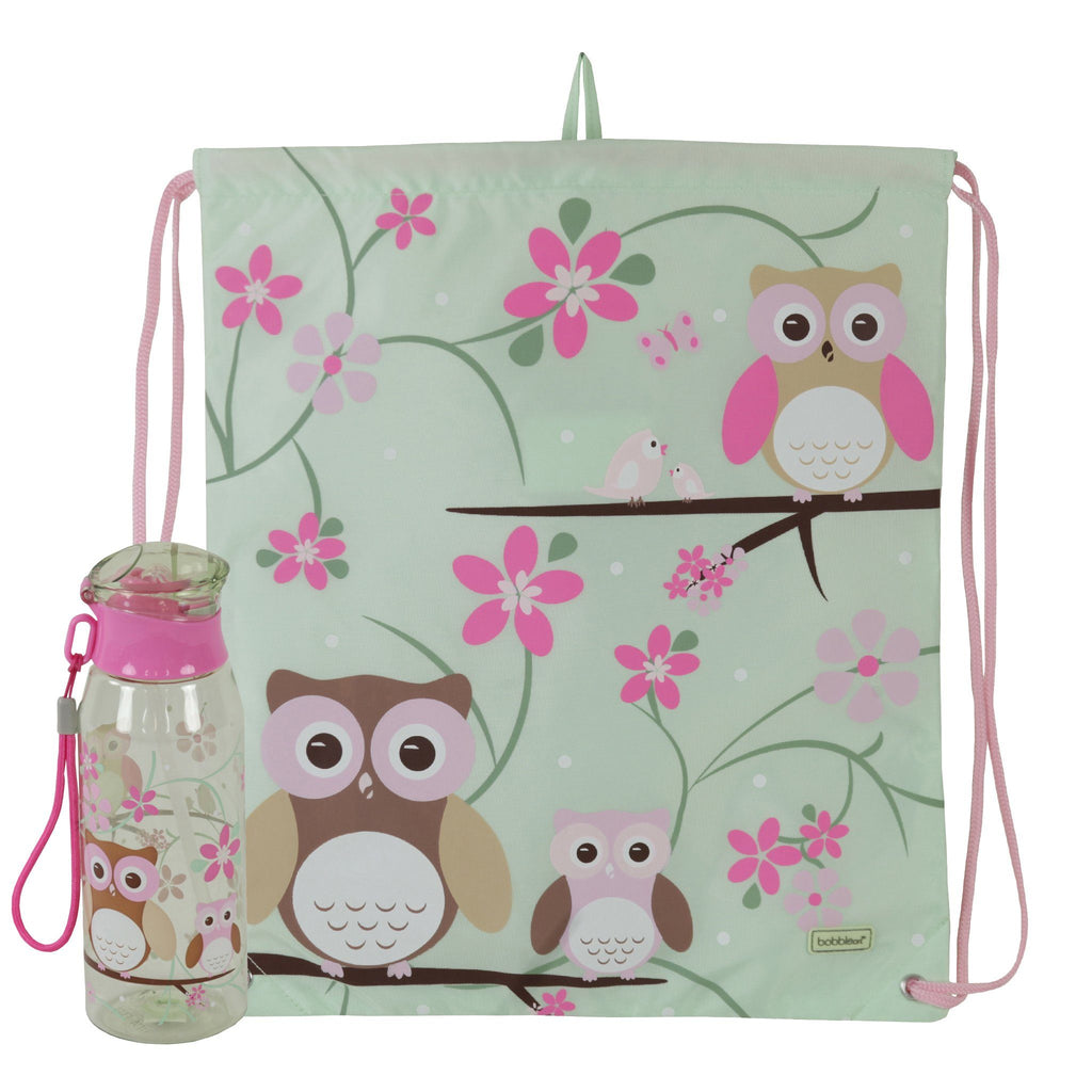 Kids & Children Drawstring Bottle Pack Owl - Bobble Art