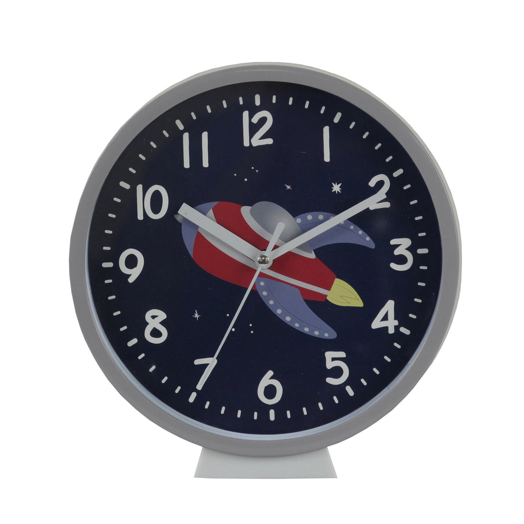 Kids & Children Wall Clock Rocket - Bobble Art