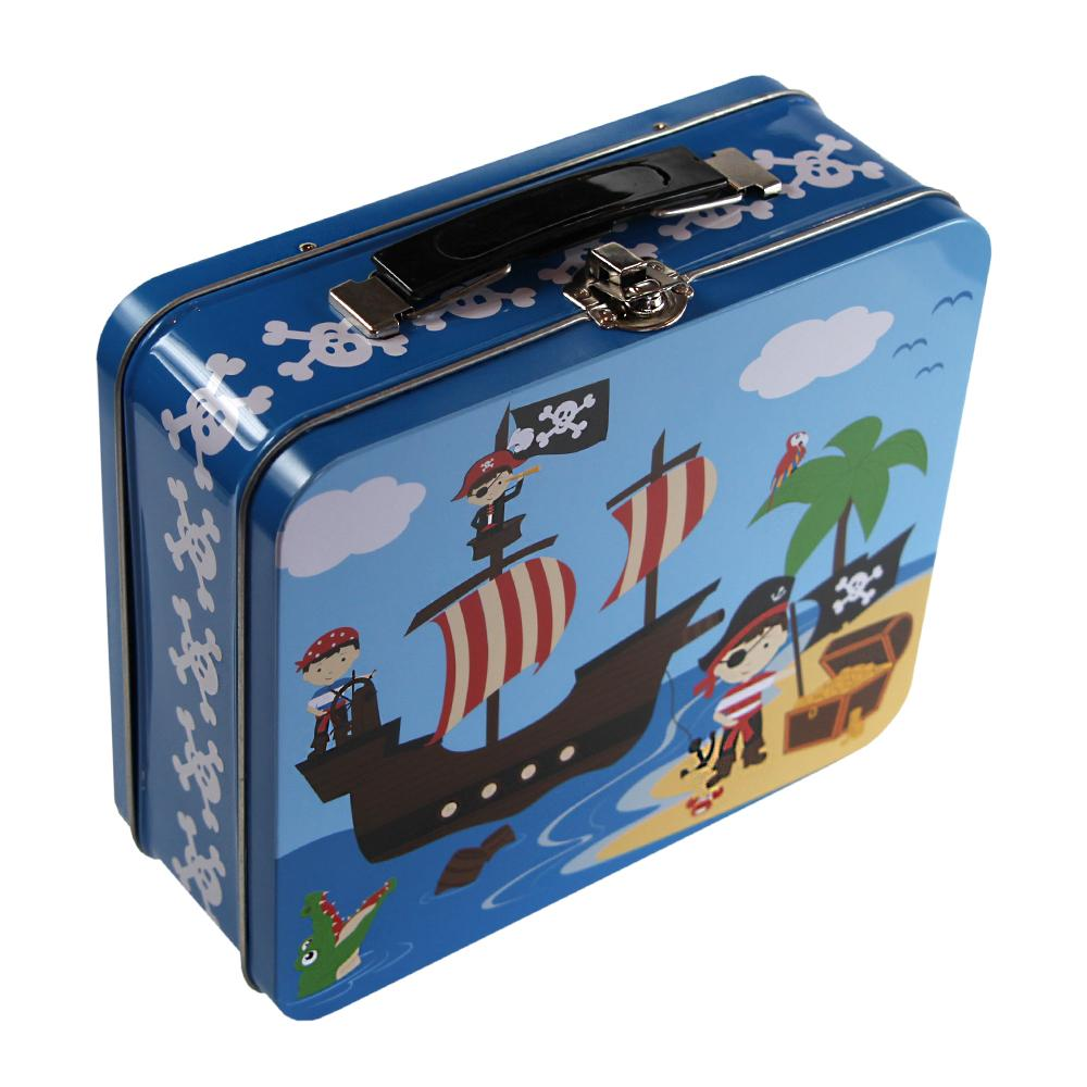 Kids & Children Tin Suitcase Pirate - Bobble Art