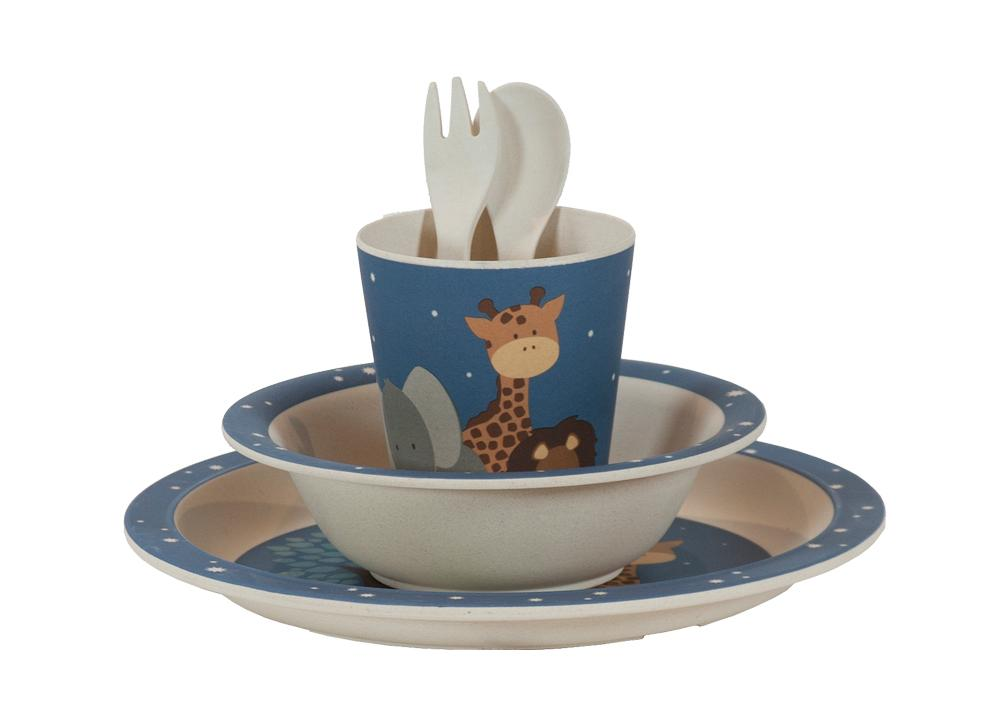 Kids & Children Bamboo Tableware Safari - Bobble Art