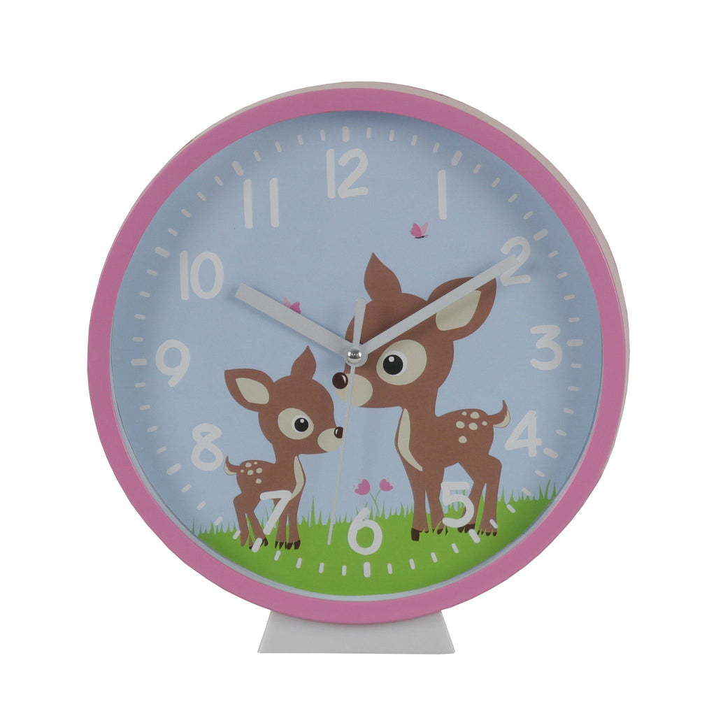 Kids & Children Wall Clock Woodland - Bobble Art