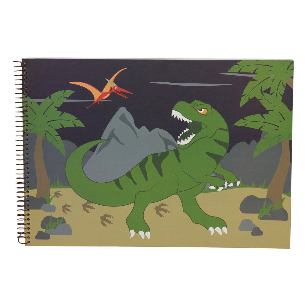 Kids & Children A3 Sketch Book Dinosaur - Bobble Art