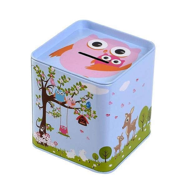 tin money box woodland sample