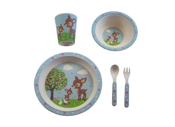 Bamboo Tableware Woodland Animals
