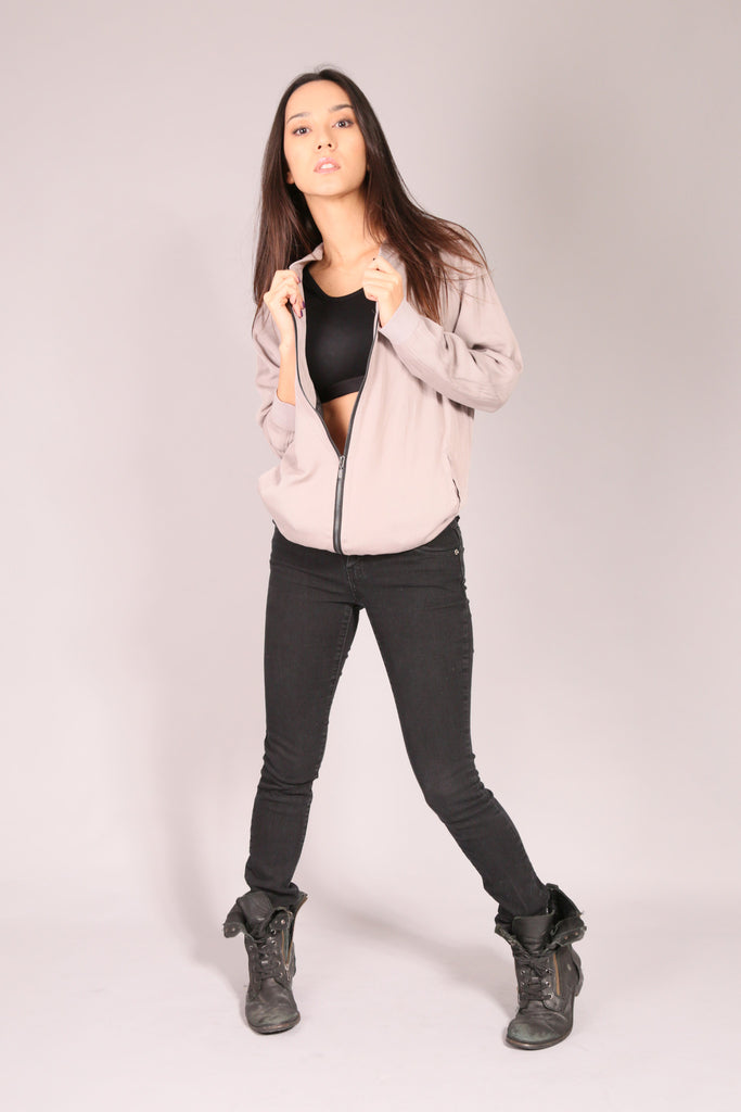 PIN UP SKATE/ Jacket Bomber Gray