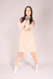 PIN UP/ Dress sweatshirt Beige