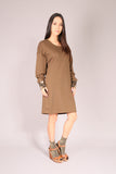 PIN UP/ Dress sweatshirt Khaki