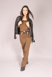PIN UP/ Dress long Khaki