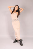 PIN UP SKATE/ Dress long Beige
