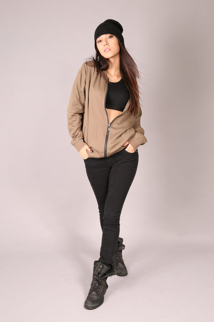 PIN UP SKATE/ Jacket Bomber Khaki