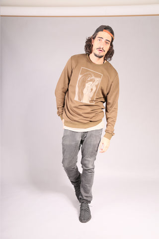 PIN UP SKATE/ Sweatshirt Khaki