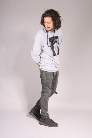 PIN UP SKATE/ Sweatshirt Gray