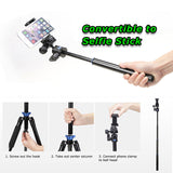 Benro iSmart IS05 Aluminum Tripod Monopod Selfie Stick 3in1 Kit (Folded 27cm, Max. 151cm)