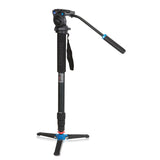 Benro A38TDS2 Aluminum Video Monopod Kit (2.5kg Max. Load, 4 Leg Sections)
