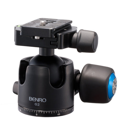 Benro G2 Low Profile Heavy Duty Ball Head for Camera Tripod (45kg Max. Load, 44mm Ball Diameter)