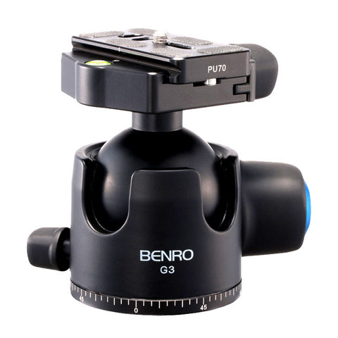Benro G3 Low Profile Heavy Duty Ball Head for Camera Tripod (55kg Max. Load, 54mm Ball Diameter)