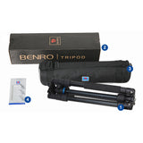 Benro iFoto IF28C+ Carbon Fiber Tripod Monopod 2in1 Kit (14kg Max. Load, 4 Leg Sections)