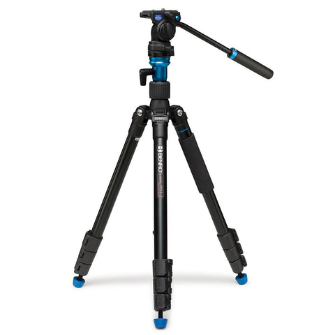 Benro A1883FS2C Areo2 Aluminum Video Tripod Monopod Kit (2.5kg Max. Load, w/ Leveling Base)
