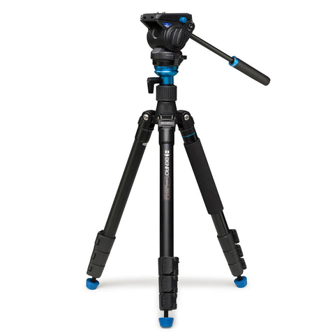 Benro A2883FS4 Areo4 Aluminum Video Tripod Monopod Kit (4kg Max. Load, w/ Leveling Base)