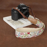 Cam-in Flower Bloosm Style Camera Neck Strap Series #2 (39mm Width, 3 Patterns)