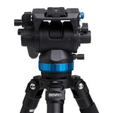 Benro S8 Video Fluid Pan Tilt Head (8kg Max. Load, w/ Damping Adjustment)
