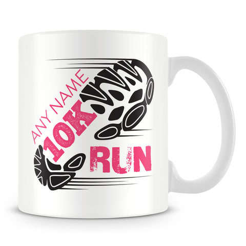 10K Mug - Running Personalised Cup Gift for Runners of 10Km Race
