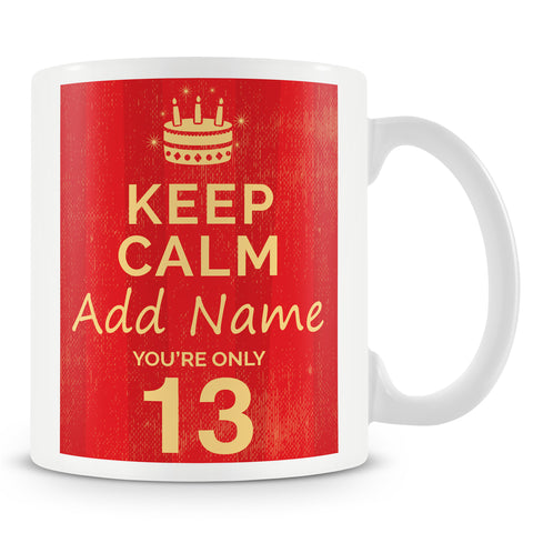 13th Birthday Party Personalised Mug - Pink