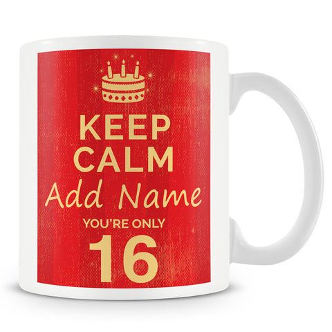 16th Birthday Party Personalised Mug - Pink