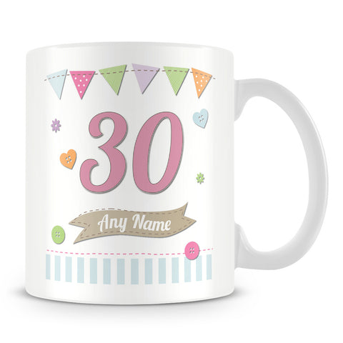 Birthday Shabby Chic Personalised Mug