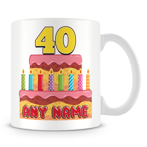 Birthday Cake Personalised Mug