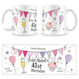 41st Birthday Party Personalised Mug - Pink
