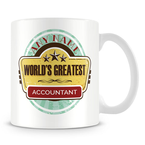 Worlds Greatest Accountant Personalised Mug