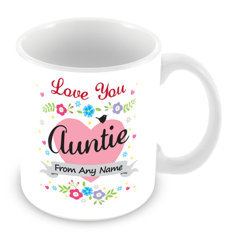 Auntie Mug - Love You Auntie Personalised Gift