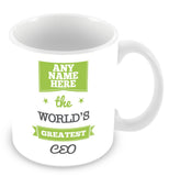 The Worlds Greatest CEO Personalised Mug - Green