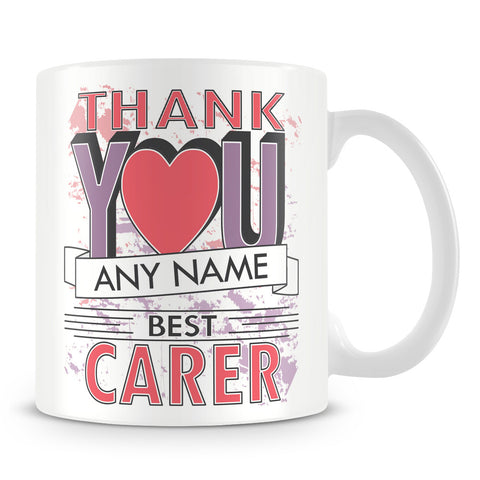 Carer Thank You Mug