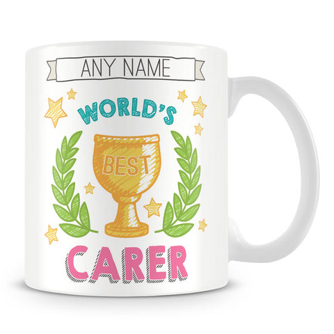 Worlds Best Carer Award Mug