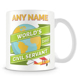 Civil Servant Worlds Best Banner Mug