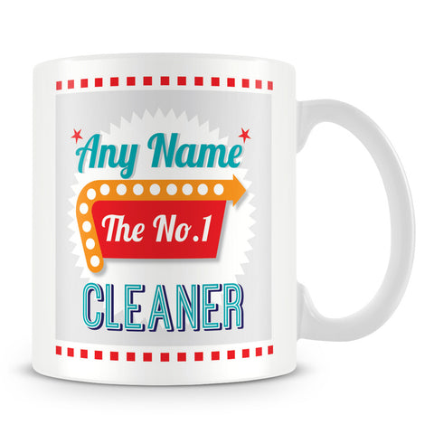 Cleaner Personalised Mug - No.1 Retro Gift - Green