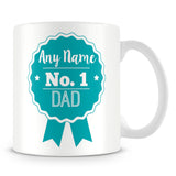 Dad Mug - Personalised Gift - Rosette Design - Green