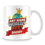 Daddy Mug - World's Best Personalised Gift  - Red