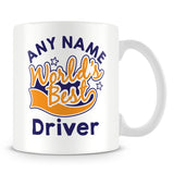 Worlds Best Driver Personalised Mug - Orange