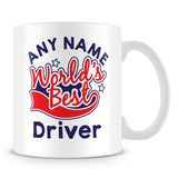 Worlds Best Driver Personalised Mug - Red