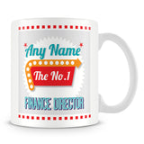 Finance Director Personalised Mug - No.1 Retro Gift - Green