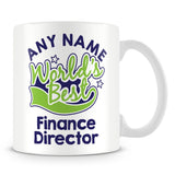 Worlds Best Finance Director Personalised Mug - Green